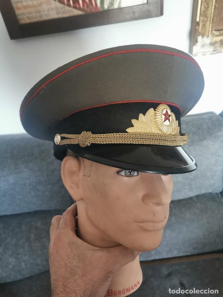 GORRA DE PLATO.OFICIAL DE LA POLICÍA MILITAR. URSS. 1989 (Militar - Boinas y Gorras )
