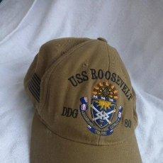 Militaria: GORRA ORIGINAL DOTACION,DESTRUCTOR.. USS ROOSEVELT...DDG-80, ARMADA NORTEAMERICANA. Lote 252590645