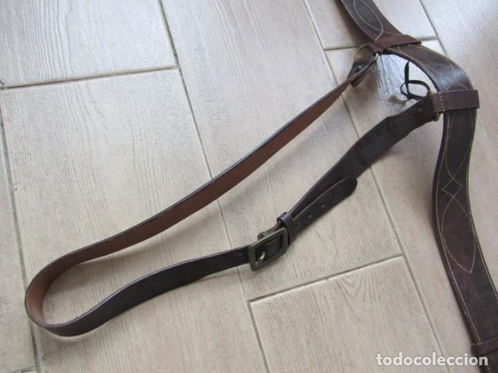 Militaria: Antiguo cinturón de cuero equitación monteria infantería? - Foto 8 - 252617250