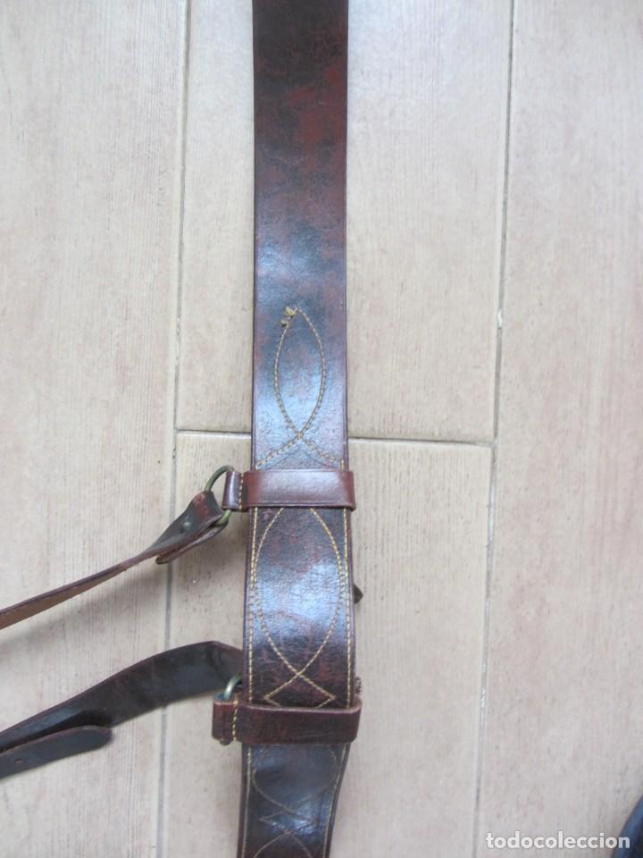 Militaria: Antiguo cinturón de cuero equitación monteria infantería? - Foto 9 - 252617250