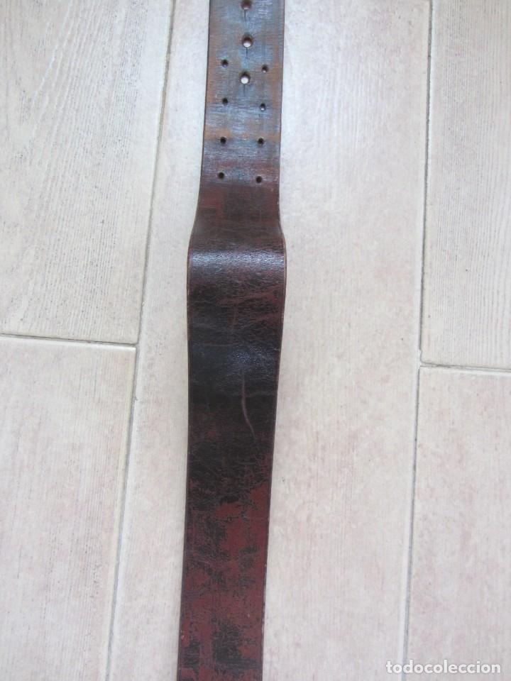 Militaria: Antiguo cinturón de cuero equitación monteria infantería? - Foto 10 - 252617250
