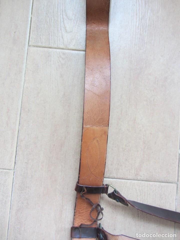 Militaria: Antiguo cinturón de cuero equitación monteria infantería? - Foto 15 - 252617250