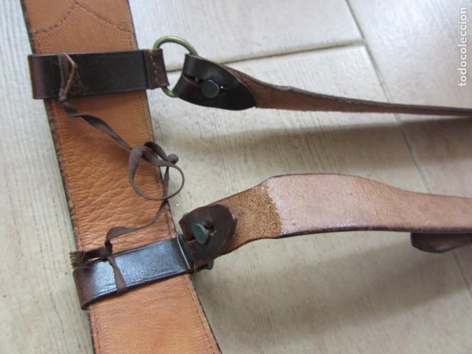 Militaria: Antiguo cinturón de cuero equitación monteria infantería? - Foto 17 - 252617250