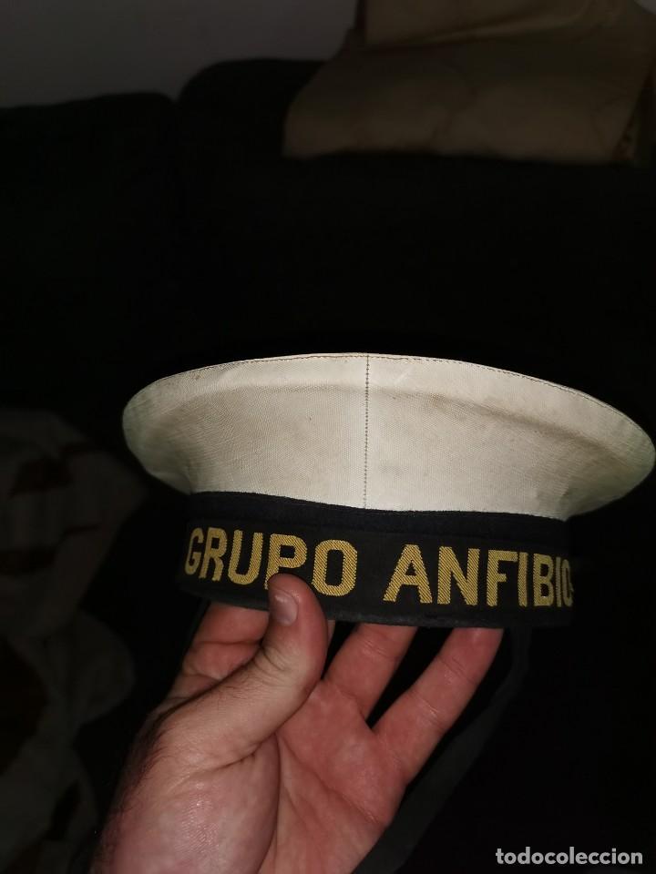 Militaria: Gorro lepanto. Grupo anfibio. Armada. Años 50 - Foto 9 - 252863395