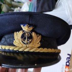 Militaria: GORRA OFICIAL SUPERIOR DE LA MARINA ITALIANA(MARINA MILITARE POST 1945 /50,S). Lote 252997390