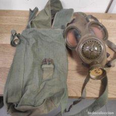 Militaria: ANTIGUA MASCARA DE GAS, DESCONOZCO PAIS Y EPOCA, INTERIOR GOMA, EXTERIOR DE TELA, BUENAS CONDICIONES. Lote 254389275