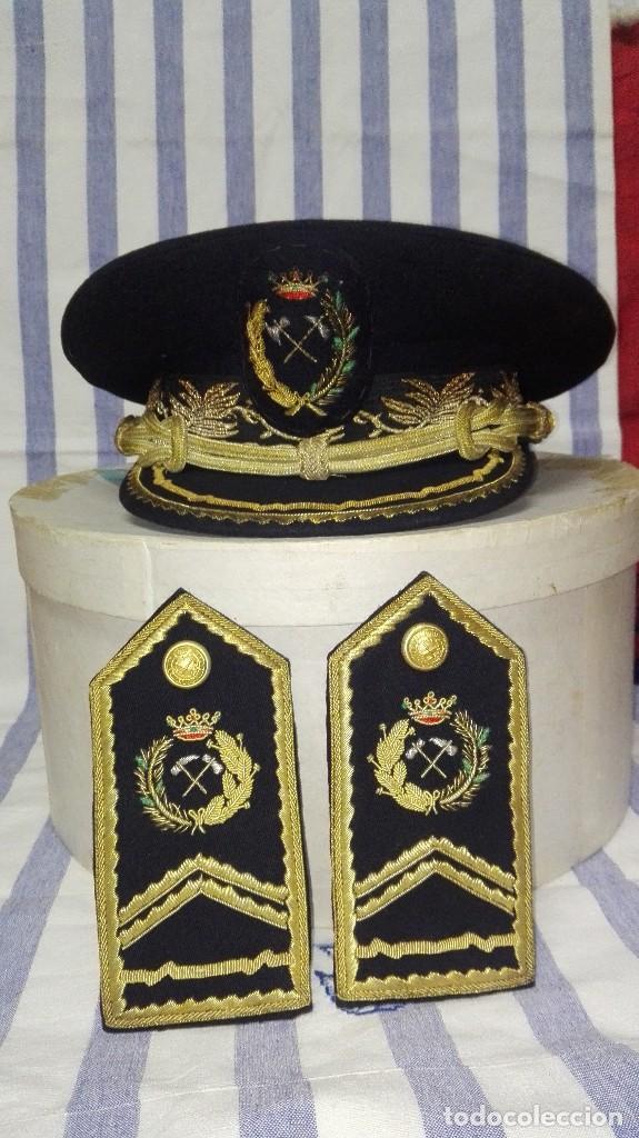 Militaria: GORRA DE PLATO MILITAR DE INGENIERO DE MONTES - Foto 2 - 256087470
