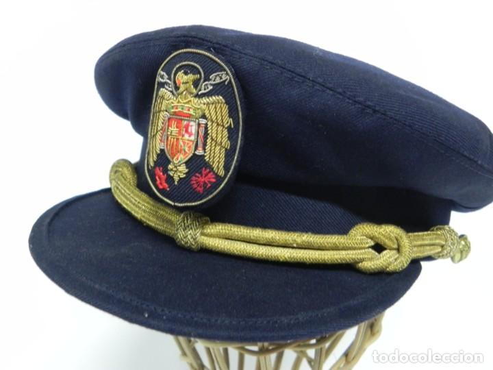 Militaria: ANTIGUA GORRA DE PLATO DE JERARCA DE FALANGE EN BUEN ESTADO DE CONSERVACION, TAL COMO SE VE EN LAS F - Foto 8 - 257333450