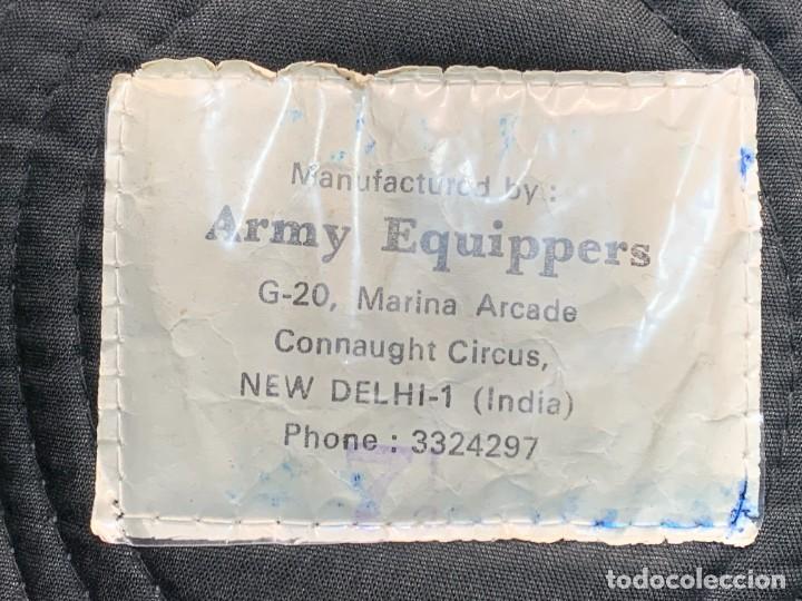 Militaria: BOINA MILITAR INGLESA ESCUDO RYKIEL BORDADO INDIA ARMY EQUIPPERS NEW DELHI T 54 24X26CMS - Foto 2 - 259998325
