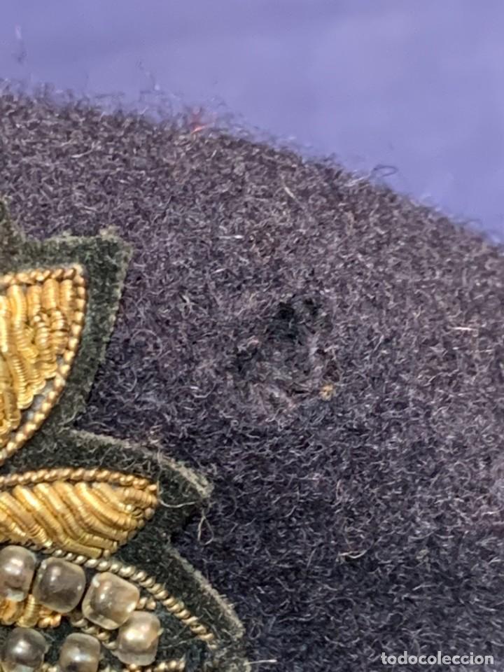 Militaria: BOINA MILITAR INGLESA ESCUDO RYKIEL BORDADO INDIA ARMY EQUIPPERS NEW DELHI T 54 24X26CMS - Foto 5 - 259998325