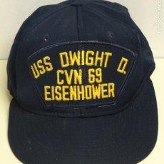 Militaria: GORRO GORRA MILITAR. EJÉRCITO AMERICANO. US NAVY. PORTAAVIONES USS DWIGHT D. EISENHOWER CVN 69. 90GR. Lote 261303080