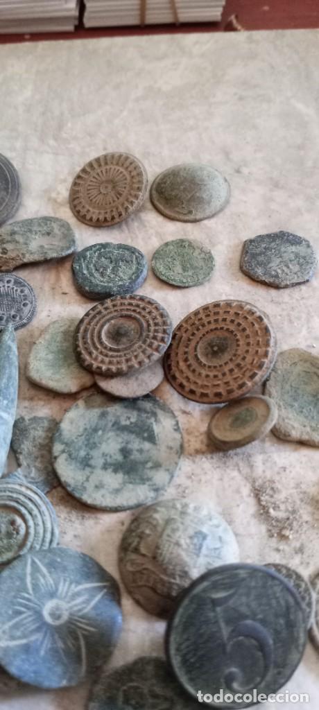 Militaria: Botones antiguos, monedas , balas etc . - Foto 6 - 261932845