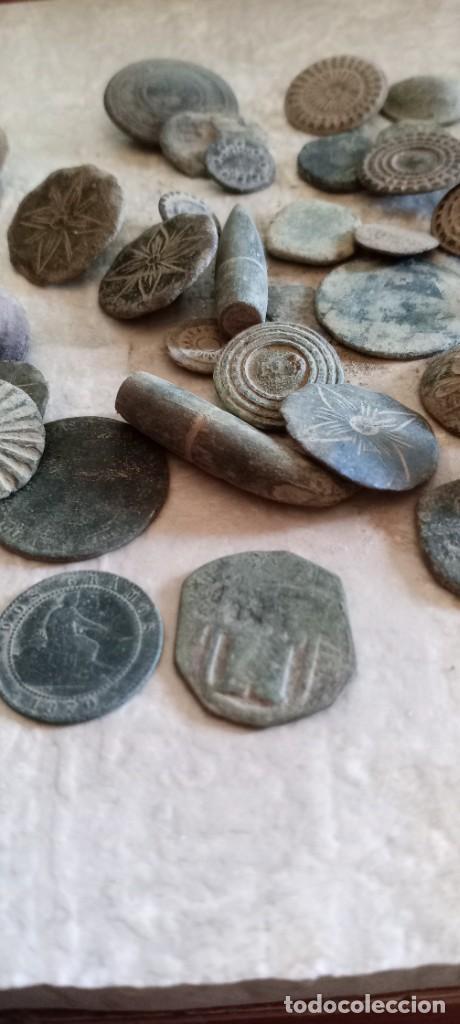 Militaria: Botones antiguos, monedas , balas etc . - Foto 8 - 261932845