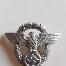 Militaria: RÉPLICA ÁGUILA METÁLICA DE GORRA POLIZEI 2° MODELO, RECREACION HISTORICA SGM. Lote 262378075