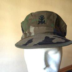 Militaria: INFANTERIA DE MARINA, GORRA WOODLAND CON EMBLEMA, MANUFACTURAS VALLE. Lote 263089630