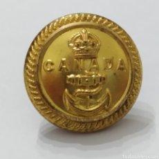 Militaria: ANTIGUO BOTÓN DE UNIFORME DE OFICIAL DE INFERMERÍA LA MARINA CANADIENSE, 1910 - 1953, HECHO EN LATÓN. Lote 263094470
