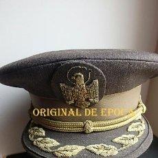 Militaria: (JX-210540)GORRA DE PLATO DE COMISARIO DE LA POLICÍA NACIONAL ESPAÑOLA,UNIFORMIDAD 1978-86 MARRON.. Lote 263711215