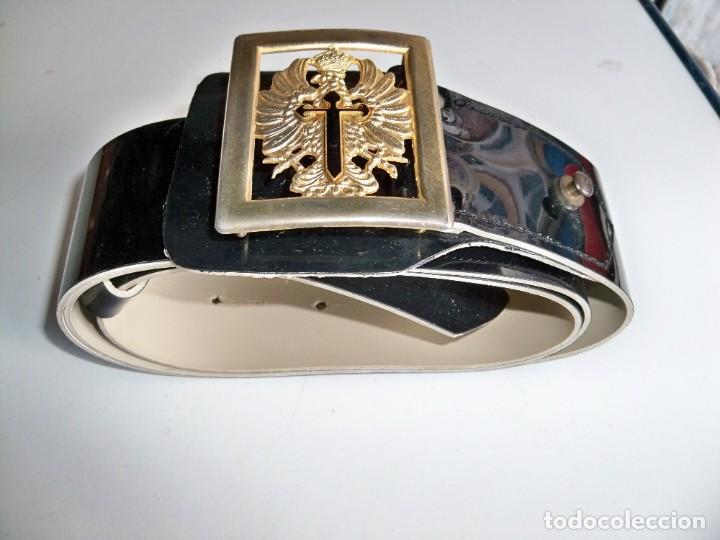 Militaria: Antiguo cinturón Militar de CHAROL - Foto 3 - 263810250
