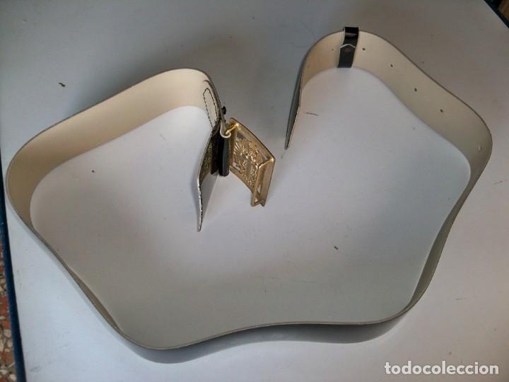 Militaria: Antiguo cinturón Militar de CHAROL - Foto 7 - 263810250