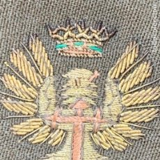 Militaria: HOMBRERA TELA INFANTERIA EPOCA FRANCO AGUILA CORONA BORDADAS TRAJE MILITAR 13X6CMS. Lote 264167096