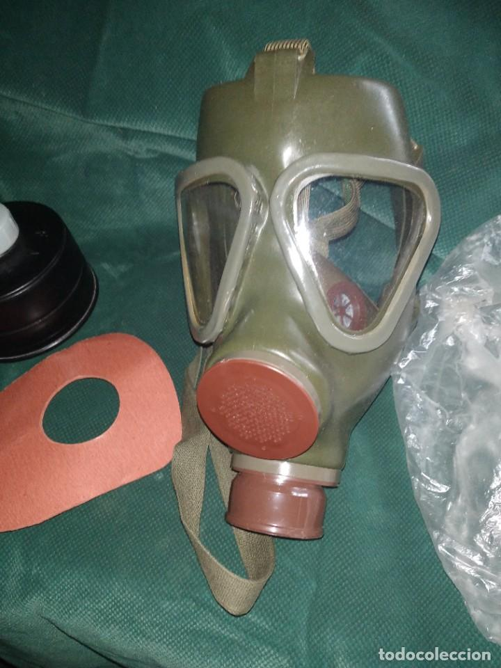 Militaria: mascara militar con su bolsa de tela fueerte - Foto 2 - 265378799