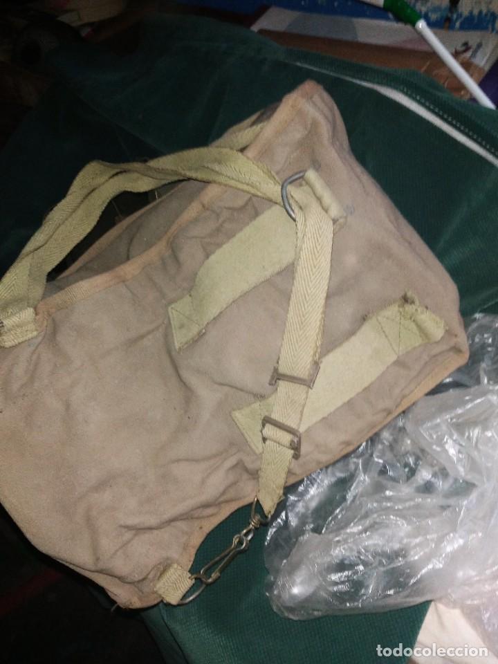 Militaria: mascara militar con su bolsa de tela fueerte - Foto 5 - 265378799