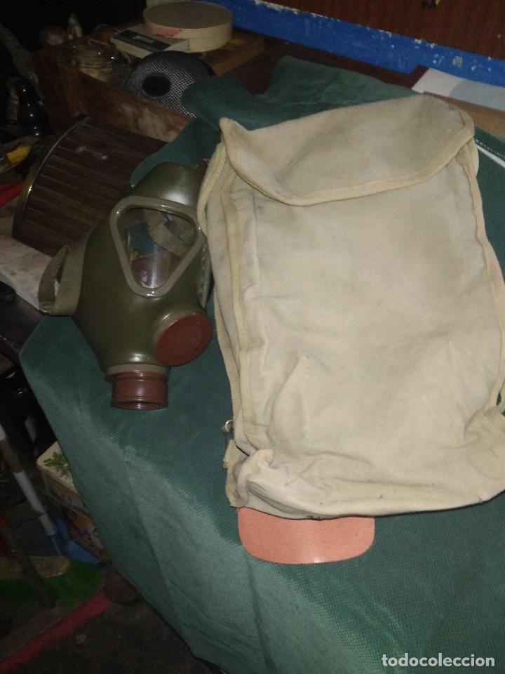 Militaria: mascara militar con su bolsa de tela fueerte - Foto 6 - 265378799