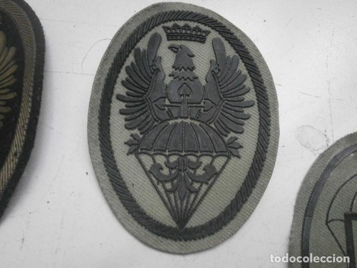 Militaria: Lote 5 parches lona y tela ejercito español usados - paracaidas variados - Foto 3 - 265895918