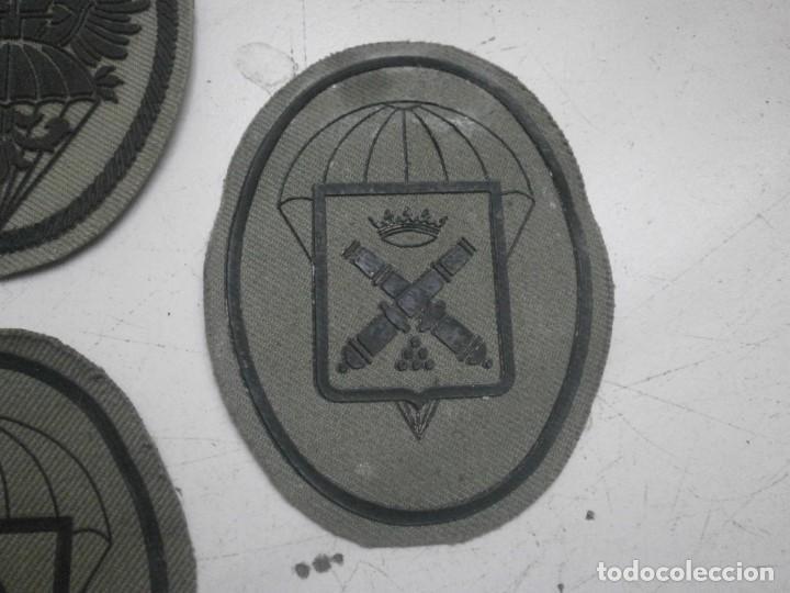 Militaria: Lote 5 parches lona y tela ejercito español usados - paracaidas variados - Foto 4 - 265895918