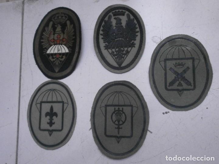 Militaria: Lote 5 parches lona y tela ejercito español usados - paracaidas variados - Foto 7 - 265895918