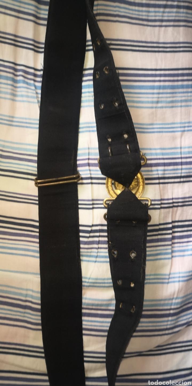 Militaria: Antiguo cinturón de la Armada española o marina de guerra para oficial época Alfonso XIII - Foto 3 - 266557613