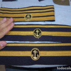 Militaria: * LOTE 3 ANTIGUAS BOCAMANGAS DE MARINA ESPAÑOLA, ORIGINALES. ZX. Lote 267507224