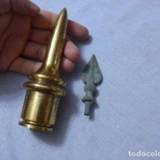 Militaria: * LOTE 2 ANTIGUO REMATE MOHARRA PUNTA DE ESTANDARTE BANDERA. ZX. Lote 267594889