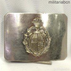 Militaria: HEBILLA DE FUNCIONARIO O DE LA GUARDIA URBANA DE BARCELONA. ÉPOCA ALFONSO XIII.. Lote 268074069