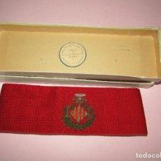Militaria: FAJÍN DE CONCEJAL O ALCALDE DE VALENCIA EN SEDA NATURAL Y BORDADOS EN HILO DE PLATA. AÑO 1920-30S.. Lote 269397848