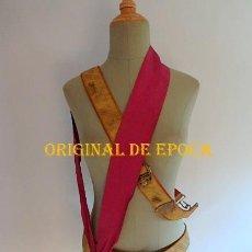 Militaria: (JX-210635)CINTURÓN Y BANDOLERA DE UNIFORME DE GALA Y BANDA DE LA VICTORIA 1936-1939 OFICIAL. Lote 269933733