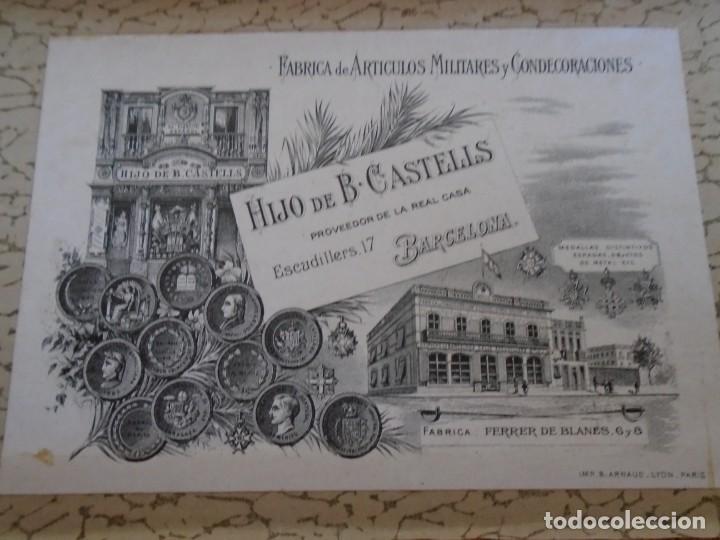 Militaria: (MI-210700)BANDA DE LA VICTORIA 1936-1939 PARA OFICIALES, CON CAJA ORIGINAL, HIJO DE B.CASTELLS - Foto 2 - 273156733