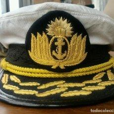 Militaria: GORRA DE PLATO DE ALMIRANTE (OTAN 7 A 9) DE LA ARMADA ARGENTINA. DEL AÑO 1987. Lote 274017543