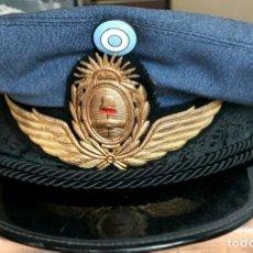 Militaria: GORRA DE PLATO DEL UNIFORME DE SERVICIO O DIARIO DE SUBOFICIAL (NCO) DE LA FUERZA AÉREA ARGENTINA. Lote 274024723
