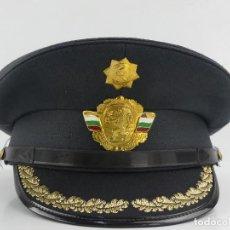 Militaria: ANTIGUO GORRO DE OFICIAL DE BOMBEROS AUTENTICO DE LA ERA COMUNISTA MUY BUEN ESTADO RARO. Lote 275881303