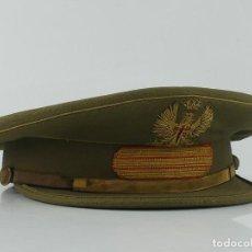 Militaria: ANTIGUA GORRA DE PLATO DE SARGENTO DEL EJÉRCITO DE TIERRA. ÁGUILA BORDADA. ÉPOCA DE FRANCO.. Lote 275881443