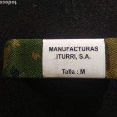 Militaria: CINTURÓN ITURRI A ESTRENAR TALLA M CAMO BOSCOSO EJÉRCITO DE ESPAÑA. Lote 276585058