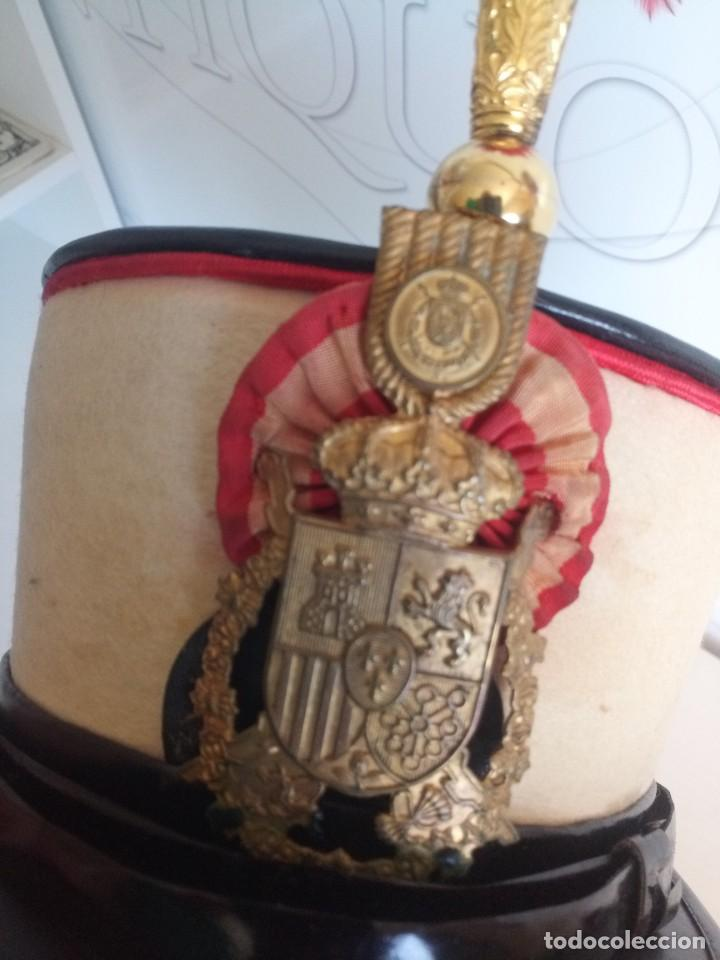 Militaria: Lote militar guardia real ros sombrero y corneta trompeta - Foto 3 - 278184568