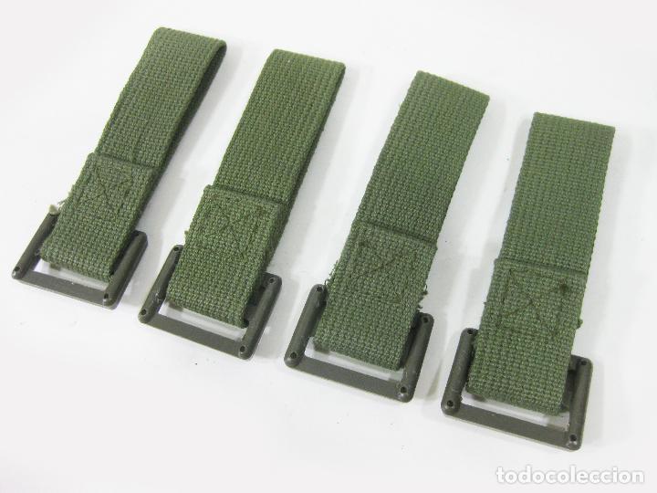 Militaria: 4 PASADORES DE CINTURON PARA TRINCHAS DE LOS AÑOS 70. EJÉRCITO ESPAÑOL - Foto 3 - 278226623