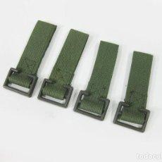 Militaria: 4 PASADORES DE CINTURON PARA TRINCHAS DE LOS AÑOS 70. EJÉRCITO ESPAÑOL. Lote 278226623
