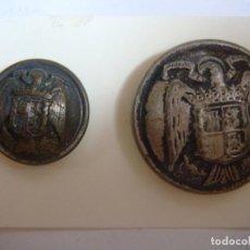 Militaria: BOTONES BOTON GRANDE Y PEQUEÑO DEL AGUILA IMPERIAL PLATEADO-CAJ -F. Lote 278423068