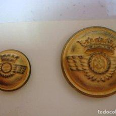 Militaria: BOTONES BOTON GRANDE Y PEQUEÑO DE AVIACION-CAJ -F. Lote 278423238