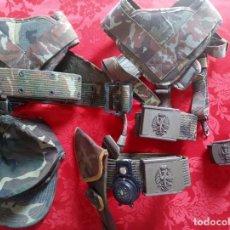 Militaria: LOTE CORREAJES ,CORREAS Y GORRA DEL EJÉRCITO DE TIERRA.. Lote 278687433