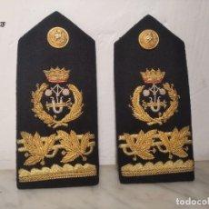 Militaria: DOS GALONES / HOMBRERAS DE PERITO EJÉRCITO ESPAÑOL (INGENIERO INDUSTRIAL) CON BOTONES - BORDADOS ORO. Lote 278692273