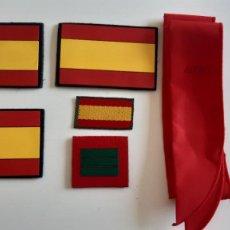Militaria: LOTE PARCHES DISTINTIVOS UME, BUFANDA FRÍA, EJÉRCITO ESPAÑOL. Lote 279407368